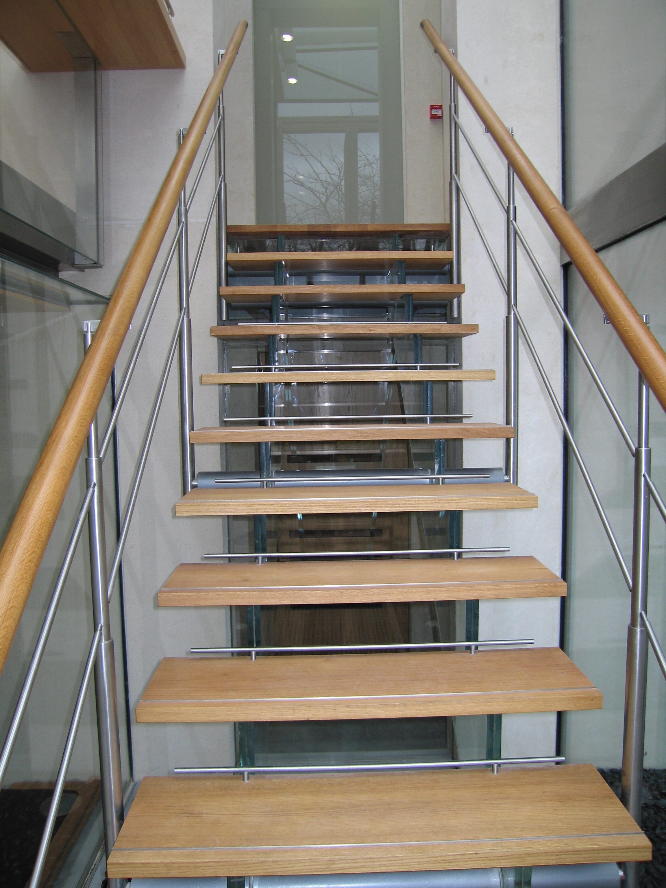 Oak Amp Glass Stairs A Edmonds Amp Co Ltd