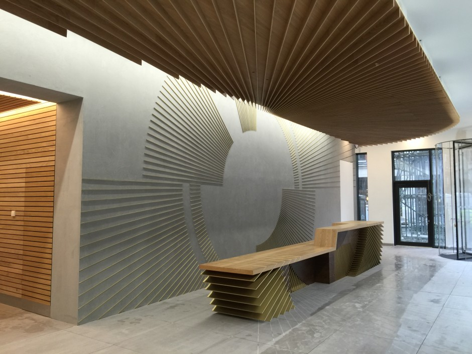 Ampersand Reception Area and Soffit