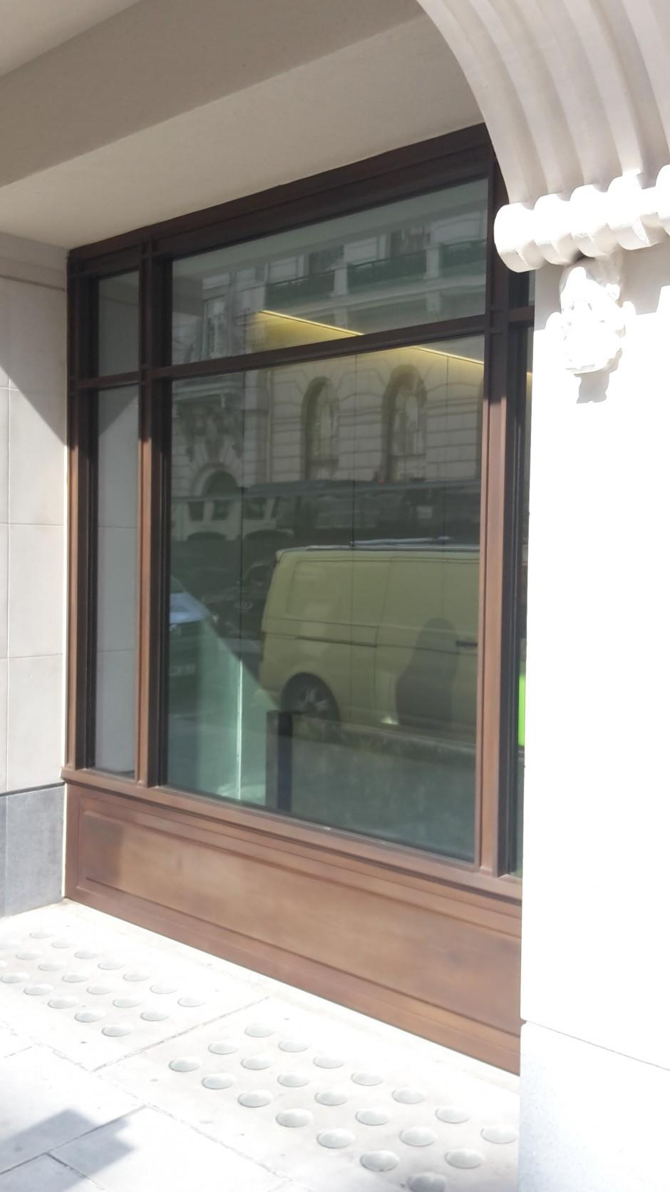 Bronze profiled shopfront